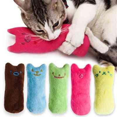 Funny Interactive Teeth Grinding Catnip - Pet Kitten Chewing Vocal Claws