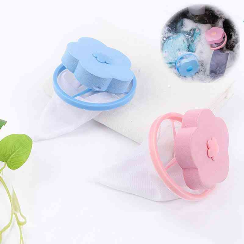 Laundry Balls Hair Removal Catcher Net Filter, Washing Machine Floating Laundry Bag Clean Pads