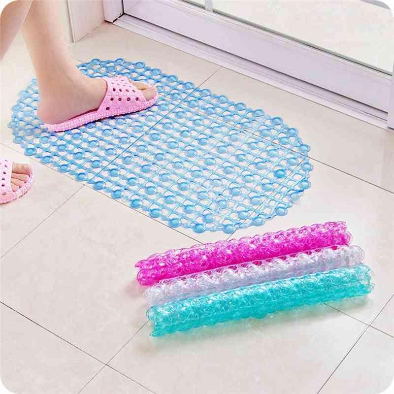 Clear Bubble Pvc Plain Suction Cup Style Anti-slip Bathroom Mat