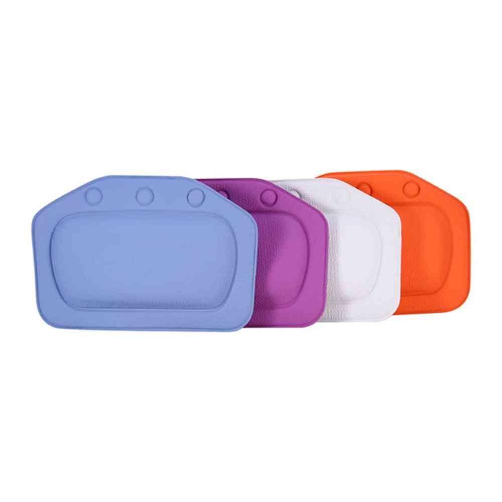Soft Waterproof Pvc Head Neck Rest Bathtub Pillow Headrest - Bath Pillows With Suction Cups