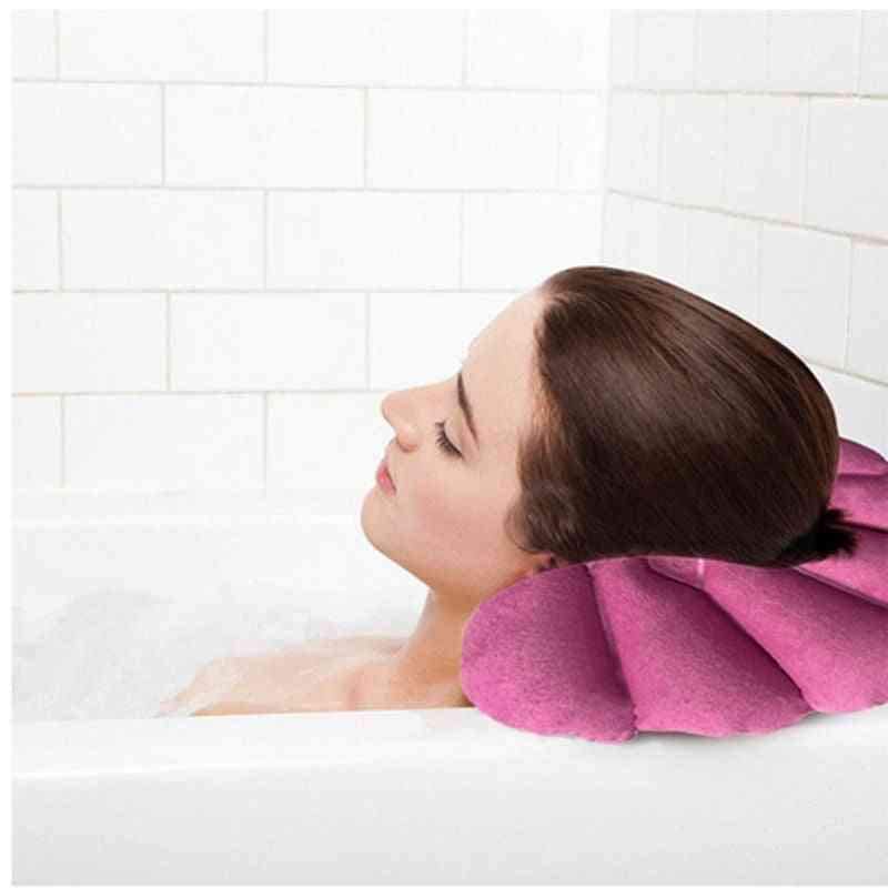 Inflatable Head Back Neck Rest Bath Pillow - Home Spa Pillow