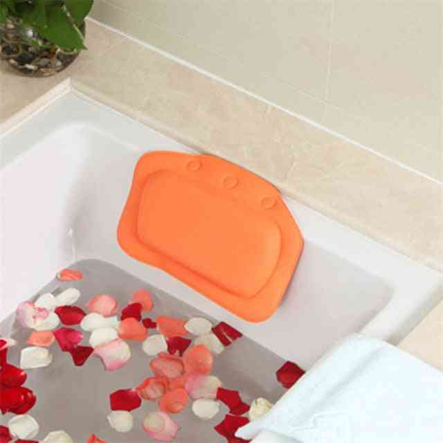 Soft Bathtub Headrest Waterproof Pvc Bath Pillows Cushion With Suction Cups