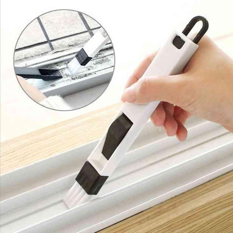 Multipurpose Window/door/keyboard Cleaning Brush, Cleaner + Dustpan 2 In 1 Tool