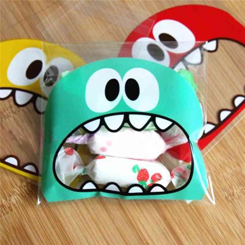 Cute Monster Animal Bird Pattern Opp Self Adhesive Plastic Bag - Wedding Birthday Cookie Candy