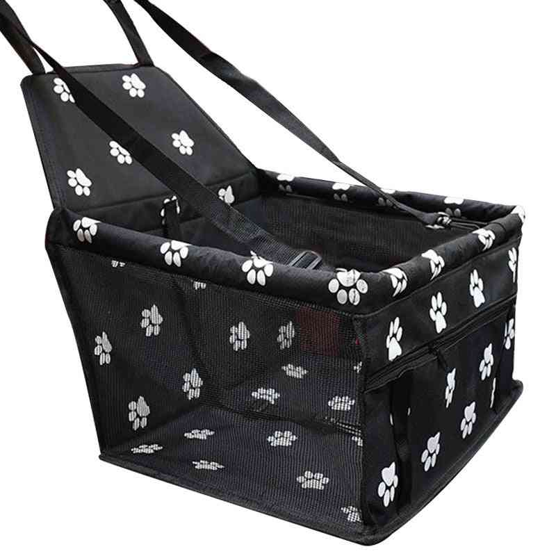 Waterproof Folding Car Carrier Basket For Small Cat Pet Dog- Safety Seat Bag Travelling Mesh
