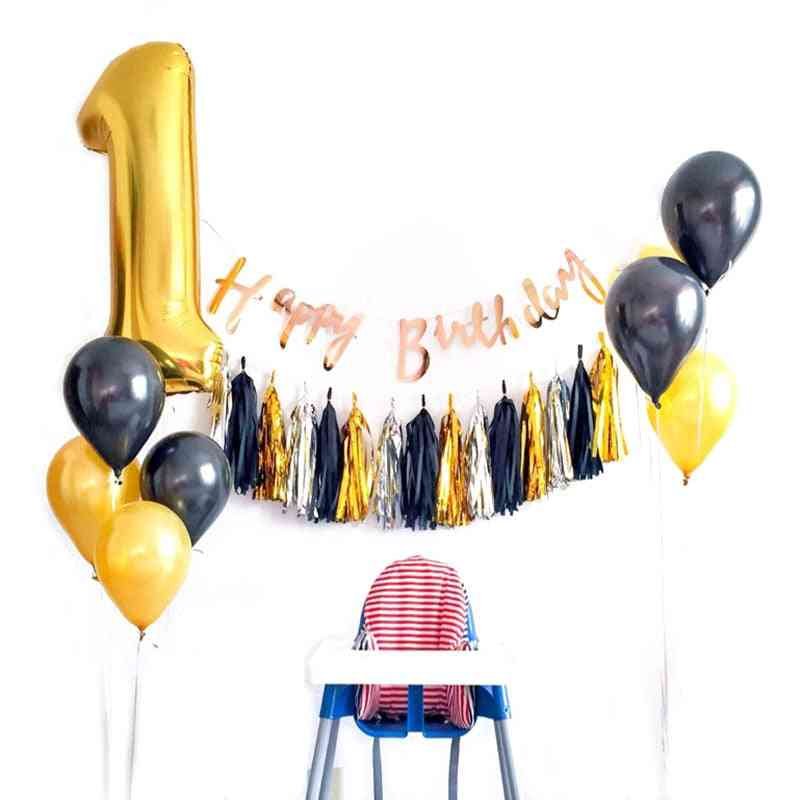 Diy Tissue Paper Tassel Garland For Wedding, Kids Unicorn Birthday Party Decorations, Baby Shower