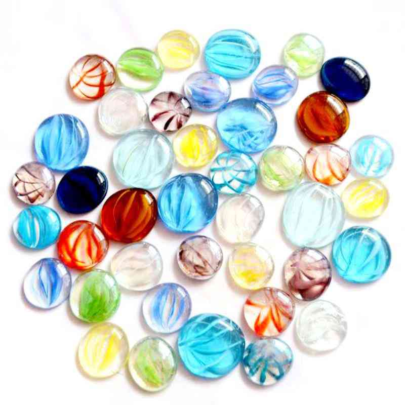 100g Mixed Color Glass Gems Mosaic Tiles Pebbles Nuggets For Diy Projects