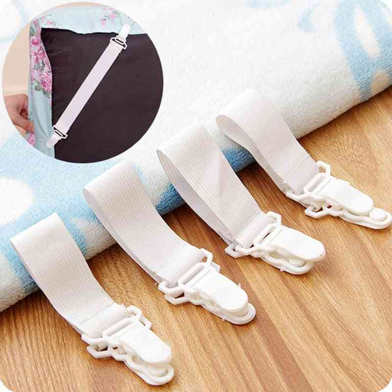 Bed Sheet Grippers Nonslip Blanket Mattress Cover Sofa Bed Fasteners Elastic Clip Holders