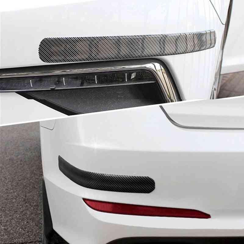 Carbon Fiber Rubber Moulding Strip Soft Black Trim Bumper Strip - Diy Door Sill Protector, Edge Guard Car Stickers & Styling
