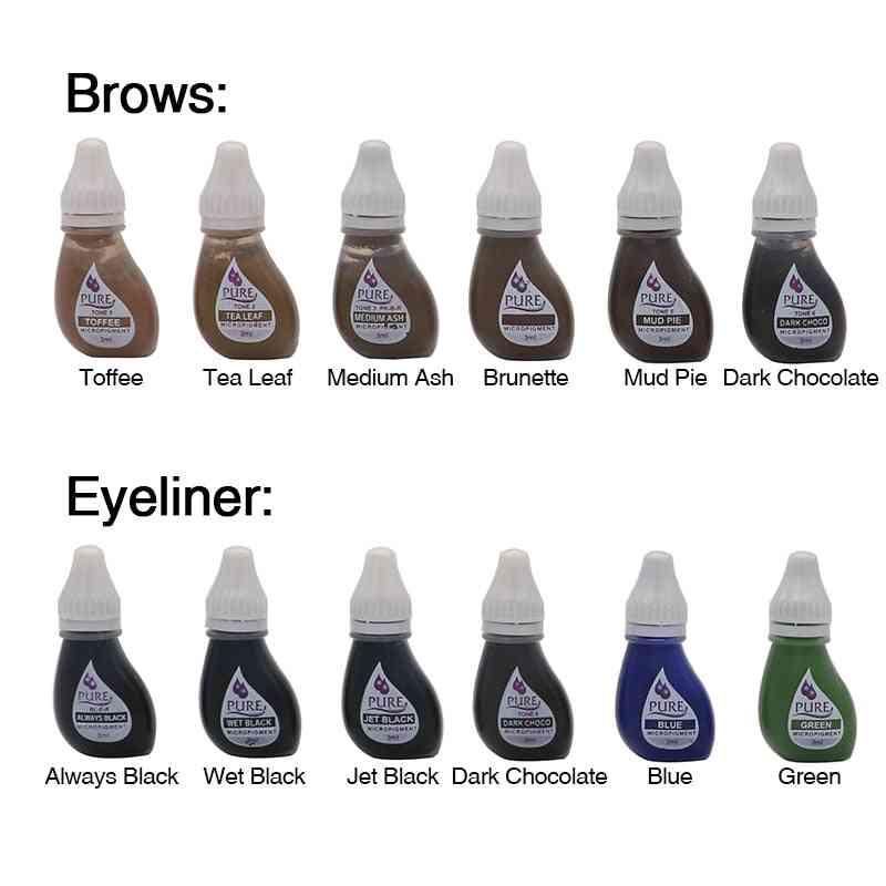 Permanent Makeup Tattoo Inks Eyebrow, Eyeliner, Lip Get Pure Confidence Micro Pigment