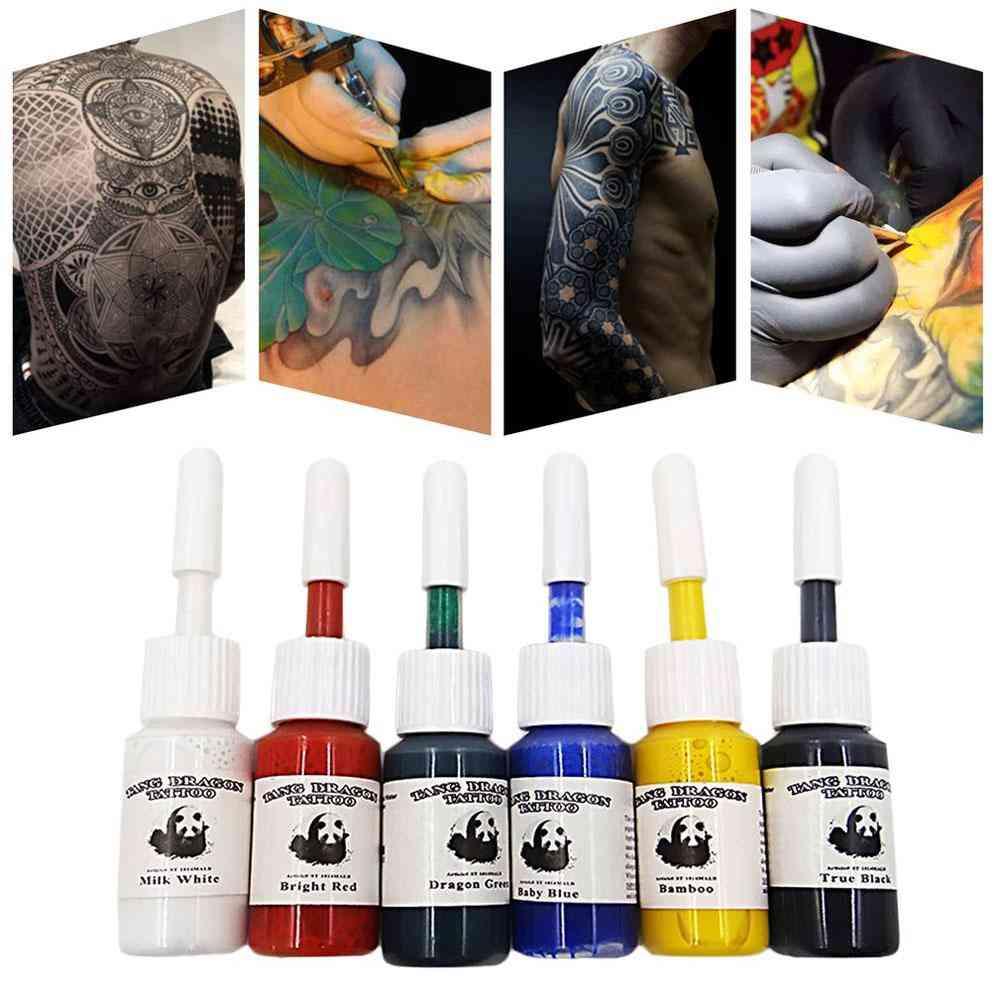 Professional Multi Colors Tattoo Ink Pigment Set Kits - Beauty Makeup Paints Bottles Tools