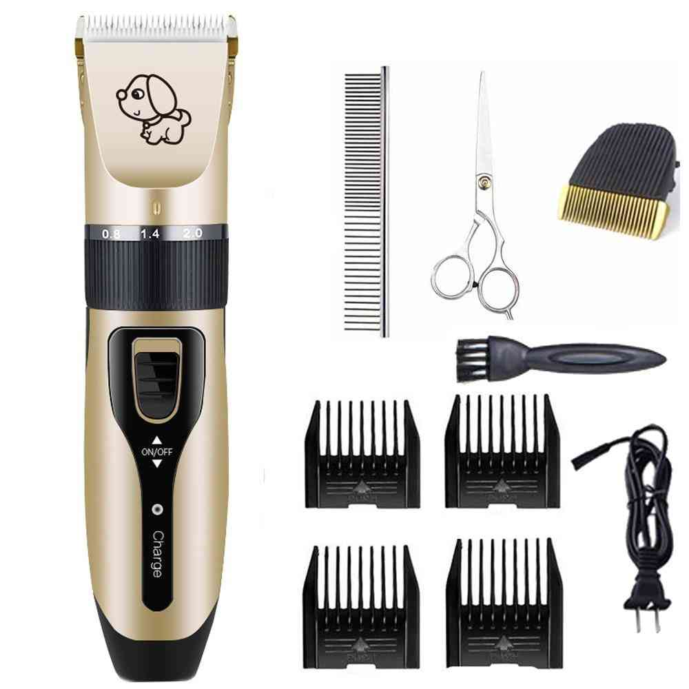 Rechargeable Electrical Hair Trimmer With Low Noise For Cat Dog Grooming