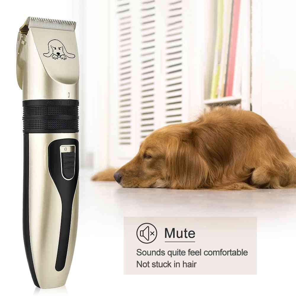 Rechargeable Electric Hair Trimmer & Grooming Shaver Machine Kit For Dog Cat