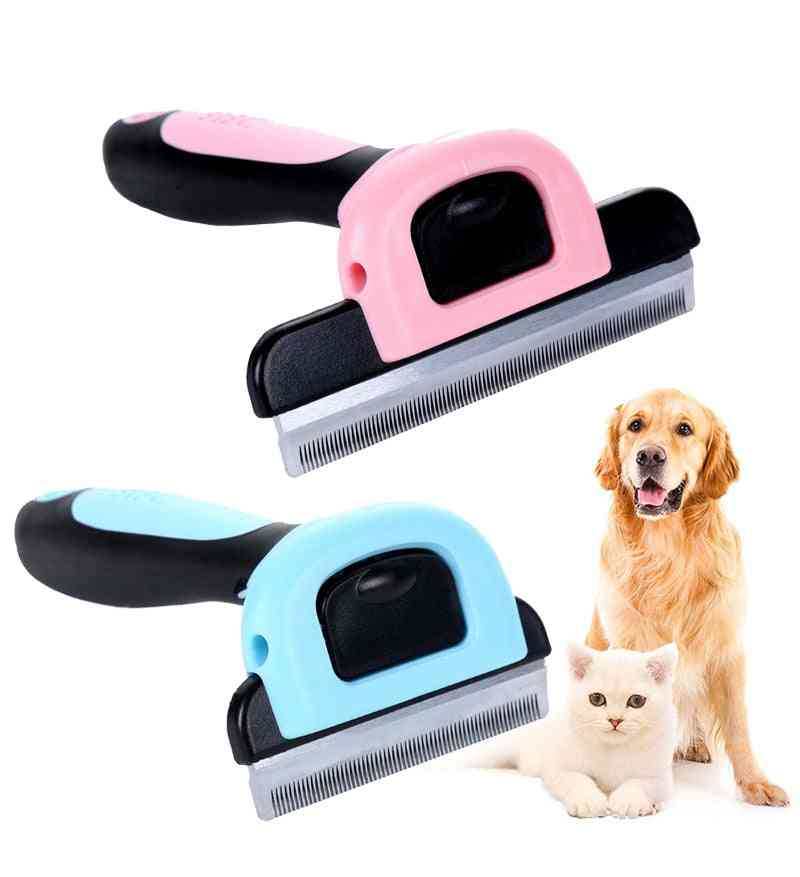 Hair Remover Brush & Grooming Trimmer With Detachable Clipper For Pets