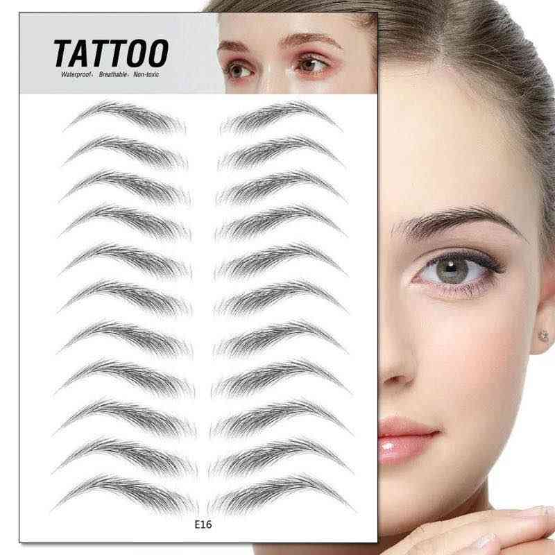 3d Eye Brow Embroidery Patch Makeup Tool - Semi Permanent Water Transfer Waterproof Tattoo