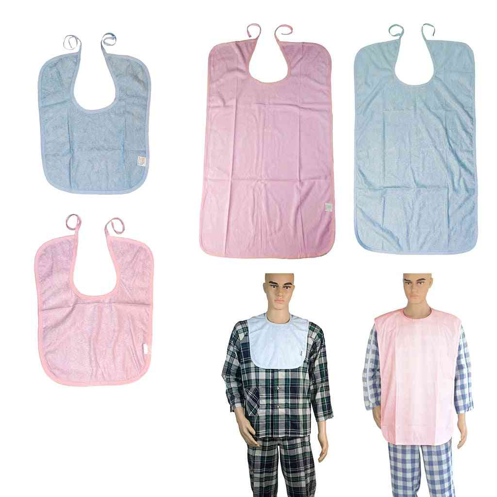 Waterproof Washable Short Adults Disability Bib Mealtime Clothing Protector Apron Soft