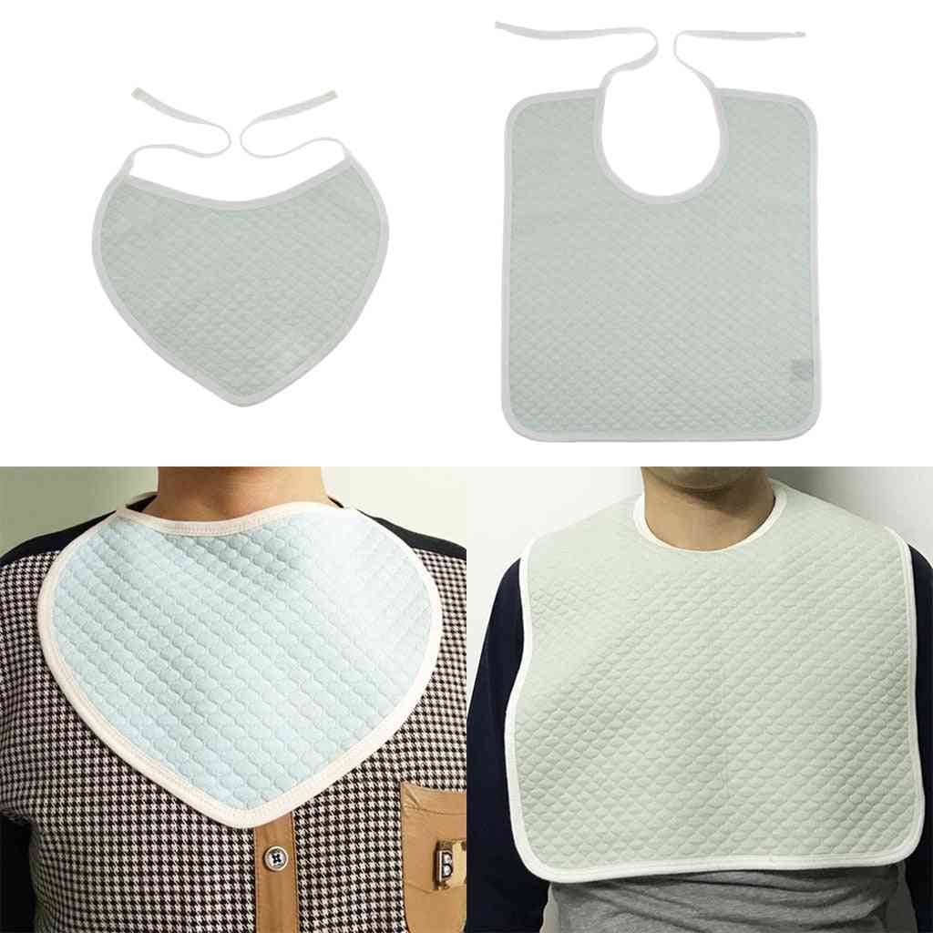 Cotton Meal Eating Bib Clothing Protector Bib - Saliva Towel For Kids,, Adults Patients