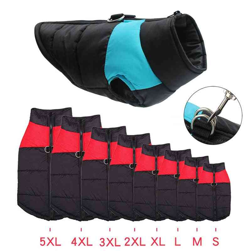 Winter Warm Waterproof Dog Coats & Jackets Clothes Pet - Vest Zipper For Small Medium Large Pug