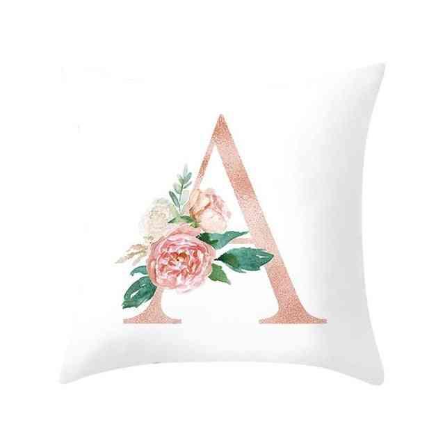 Decorative Alphabet Print Cushion - Sofa, Home Decoration Flower Pillow Cushion