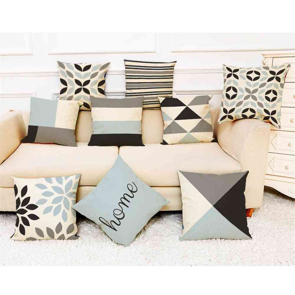 Modern Patchwork Pattern Simple Geometric Throw Square Pillow Case