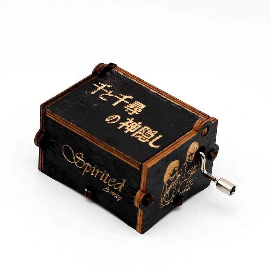 Sailor Moon Antique Engraved Wooden Musical Box