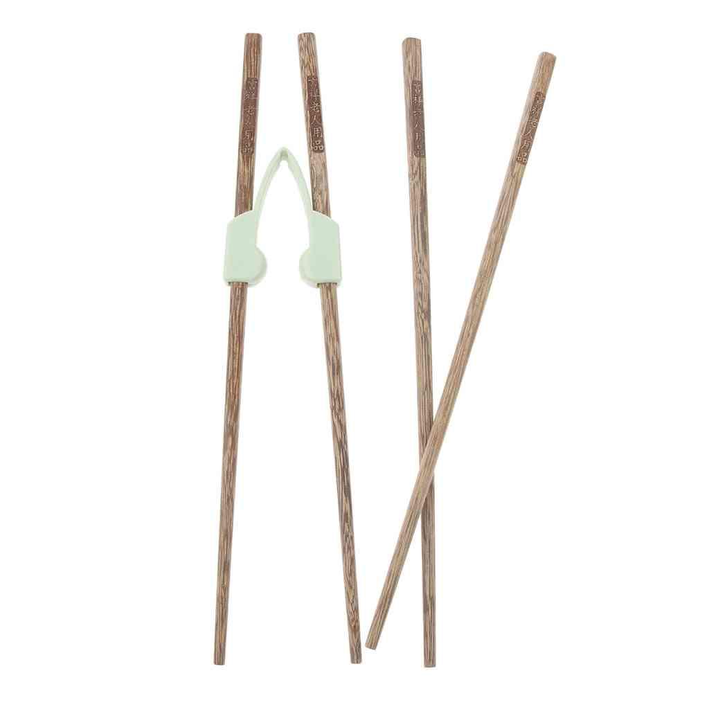 Kids Training Chopsticks Helper Tool - Kitchen Flatware Set, Designed For Adults, Elderly Or Disabled