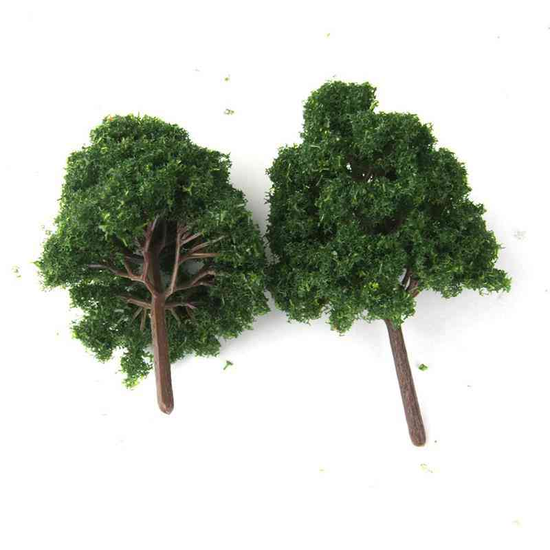 25pieces Model Trees - Diorama Tree Architecture Plants For Diy Scenery Landscape