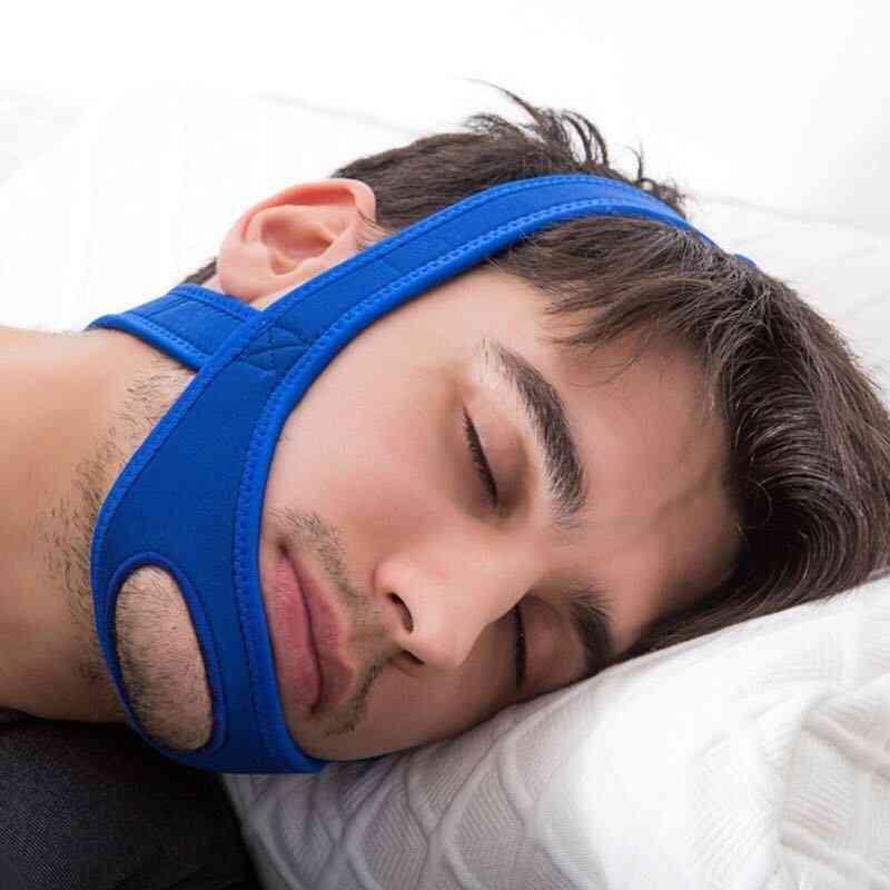 Neoprene Anti Snore - Stop Snoring Strap Belt, Anti Apnea Jaw Solution, Sleep Support