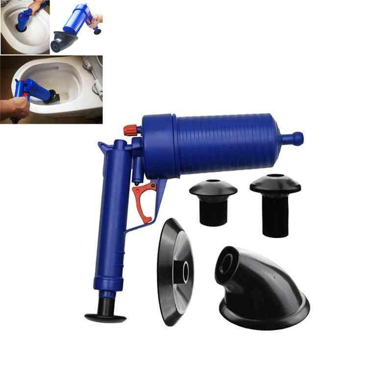 Hot Air Power Drain Blaster Gun - High-pressure Powerful Manual Sink Plunger Opener