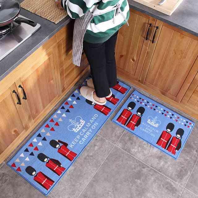 Modern Sponge Lining Absorb Water Long Kitchen Mat - Bath Carpet Floor Mat, Home Entrance Doormat
