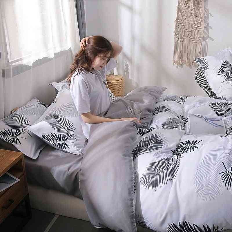 Double Sided Ab Version Printing Duvet Cover - Soft Breathable Four Seasons Quilt Comforter Cover