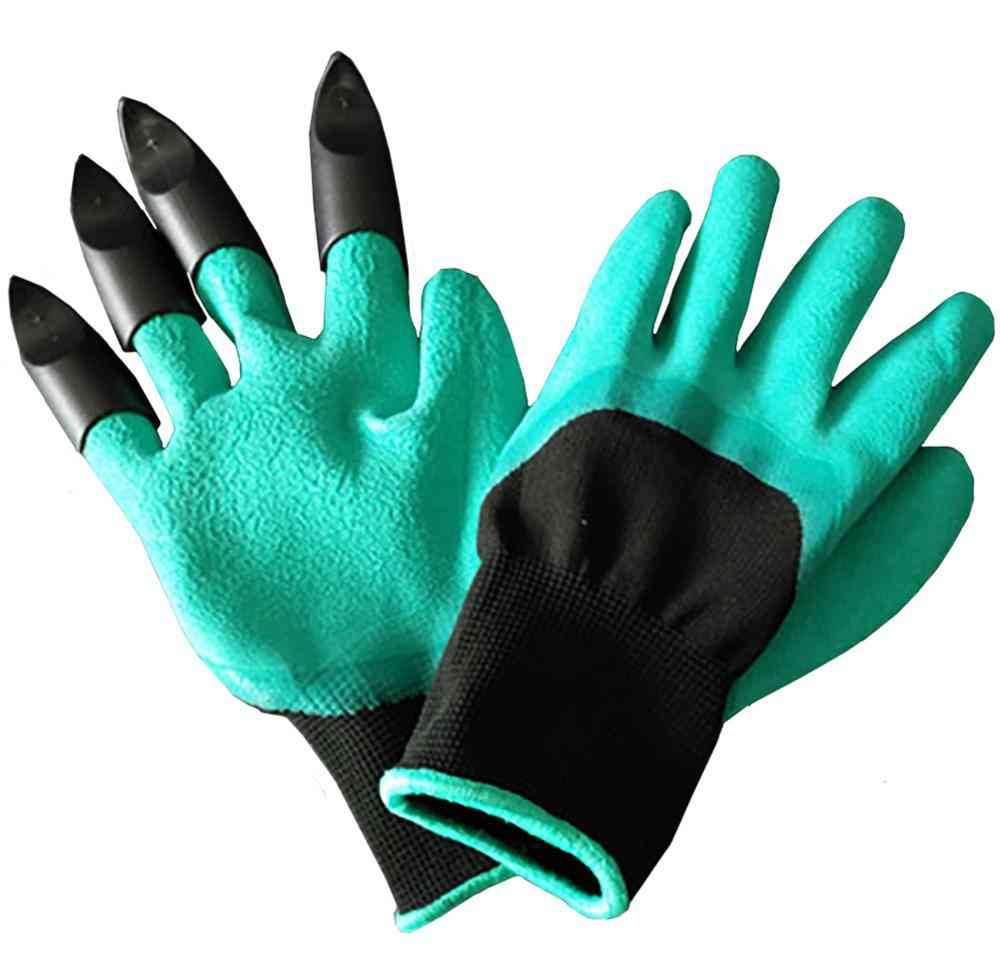 Garden Rubber Gloves With Claws For Quick & Easy To Dig And Plant