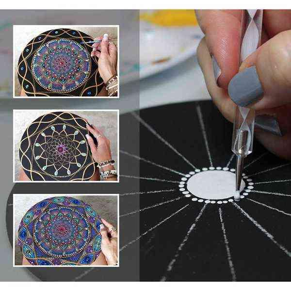 Mandala Dotting Acrylic Stick Tools Set For Painting Rocks