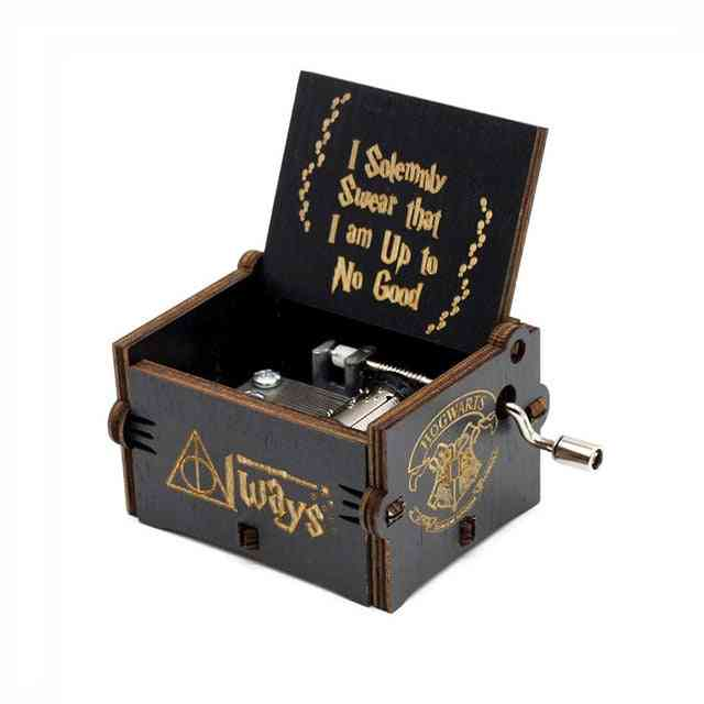 Harry Potter Hedwig Theme Hand Cranked Wooden Musical Box
