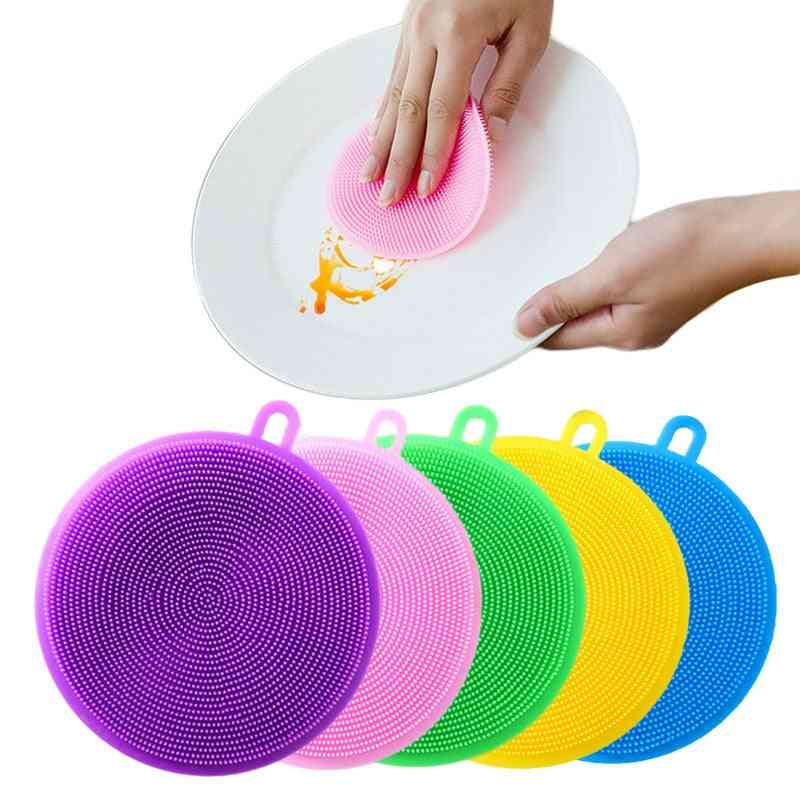 Multi Functional Silicone Cleaning Brush, Sponge For Cutlery, Kitchenware - Sponges & Scouring Pads