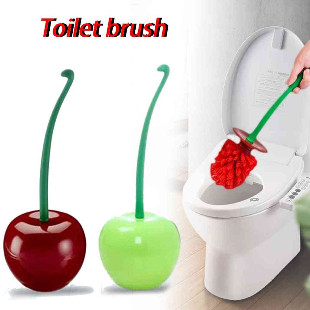 Cherry Shape Mounted Base Cleaning Brush For Toilet Wc Bathroom Floor