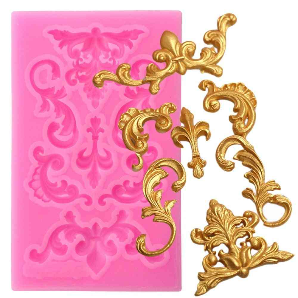 Scroll Border Silicone Mold - Scroll Relief Fondant Mold Cake Decorating