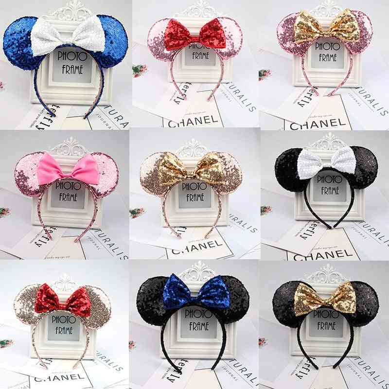 3d, Full Sequined, Minnie Mouse Ears-bow Headband