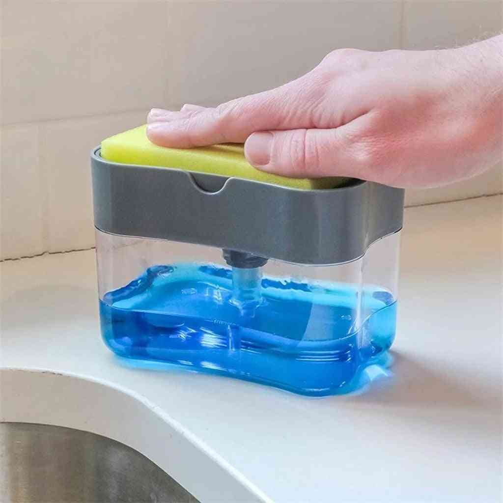 2-in-1, Double Layer Soap Dispenser And Sponge Caddy For Kitchen