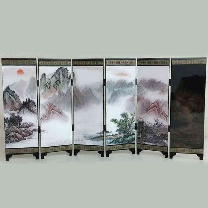 Mini Folding Screen- 6 Printed Panel For Home Decoration