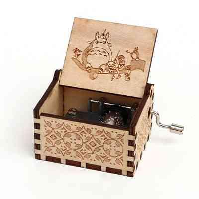 Totoro- 18 Tones, Hand Cranked, Wooden Music Box