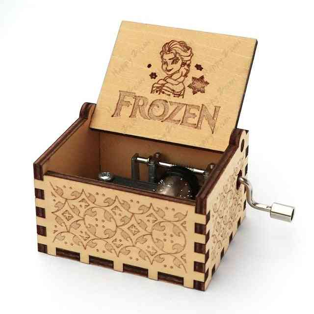 Frozen Theme-hand Cranked, Wooden Music Box