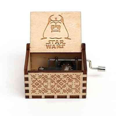 Star Wars Collectibles - Antique Carved, Hand Cranked Wooden Music Box