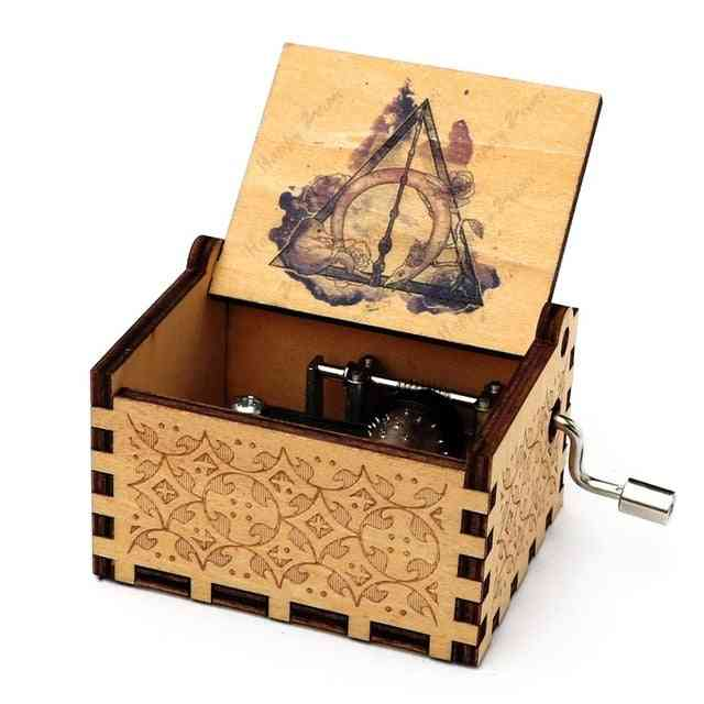 Hand Cranked Wooden Music Box - Harry Potter Collectibles
