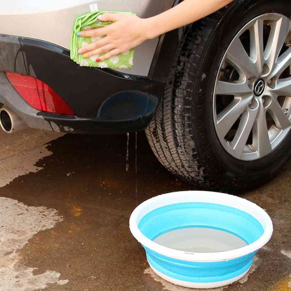 Simple & Portable Folding Bucket For Camping, Fishing, Car Washing And Household Work
