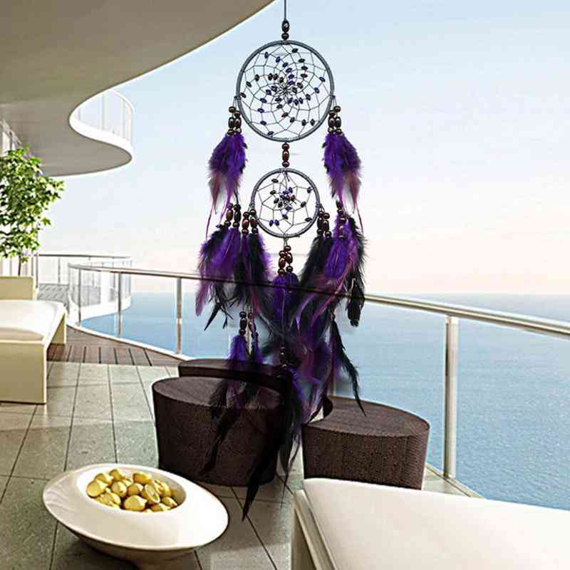Nordic Style, Feathers Wall Hanging For Home Decor