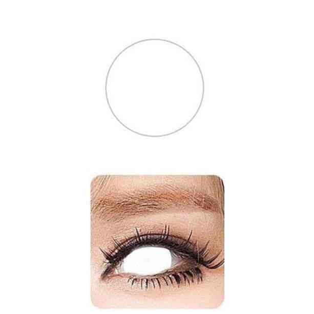 Pupil Cover, Blind Contact Lenses For Halloween Or Cosplay