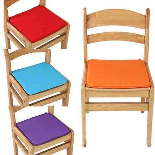 Solid Color Cotton Blend Cushions - Dining, Garden, Home, Kitchen, Office Chair Seat Pads Cushion