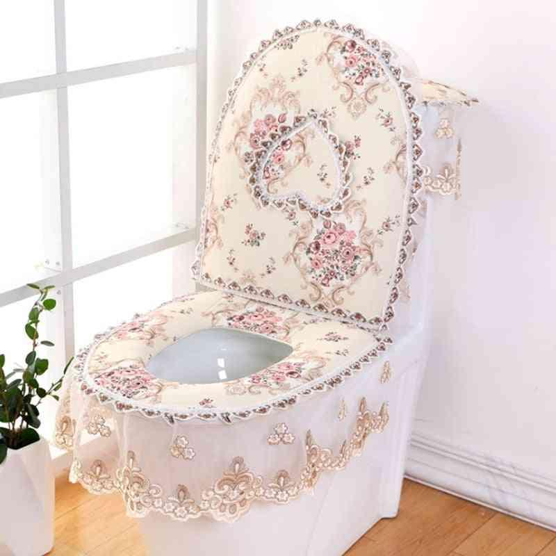 European Lace Design-toilet Seat Cover