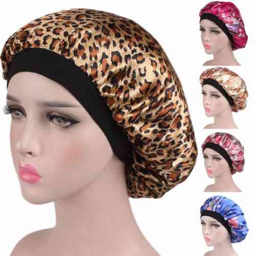 Soft Silk Satin Night Sleep Cap, Comfortable Head Cover For Women